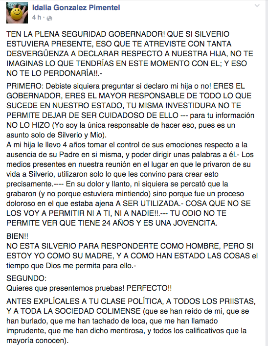 Facebook / Idalia Gonzalez Pimentel